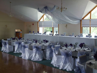 Decorated reception tables